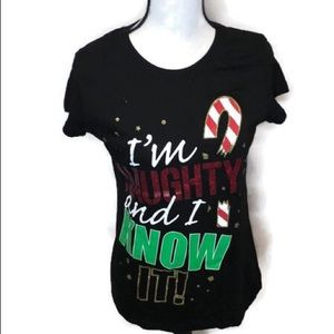 I'm Naughty and I Know It Xmas T-shirt. Size Large